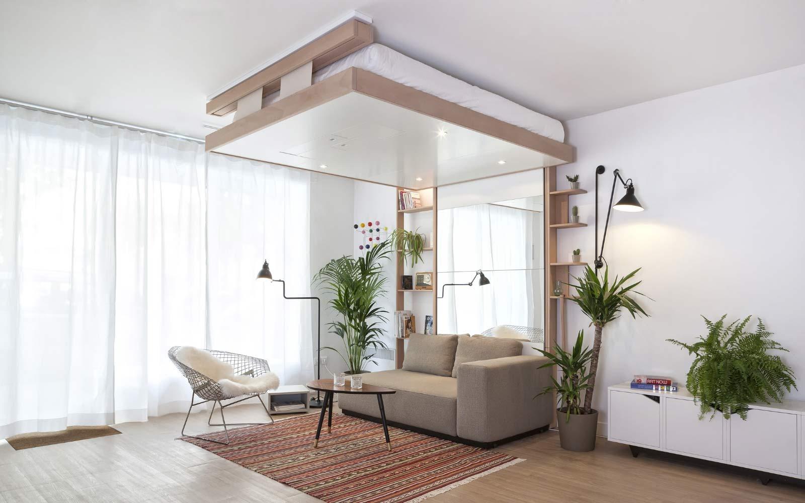 Lit Escamotable Bedup® : La Solution Pour Les Petits Espaces avec Lit Escamotable Plafond Pas Cher