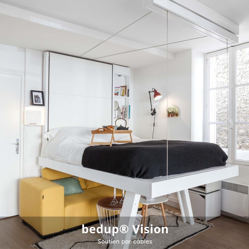 Lit Escamotable Bedup® : La Solution Pour Les Petits Espaces encequiconcerne Lit Escamotable Plafond Pas Cher