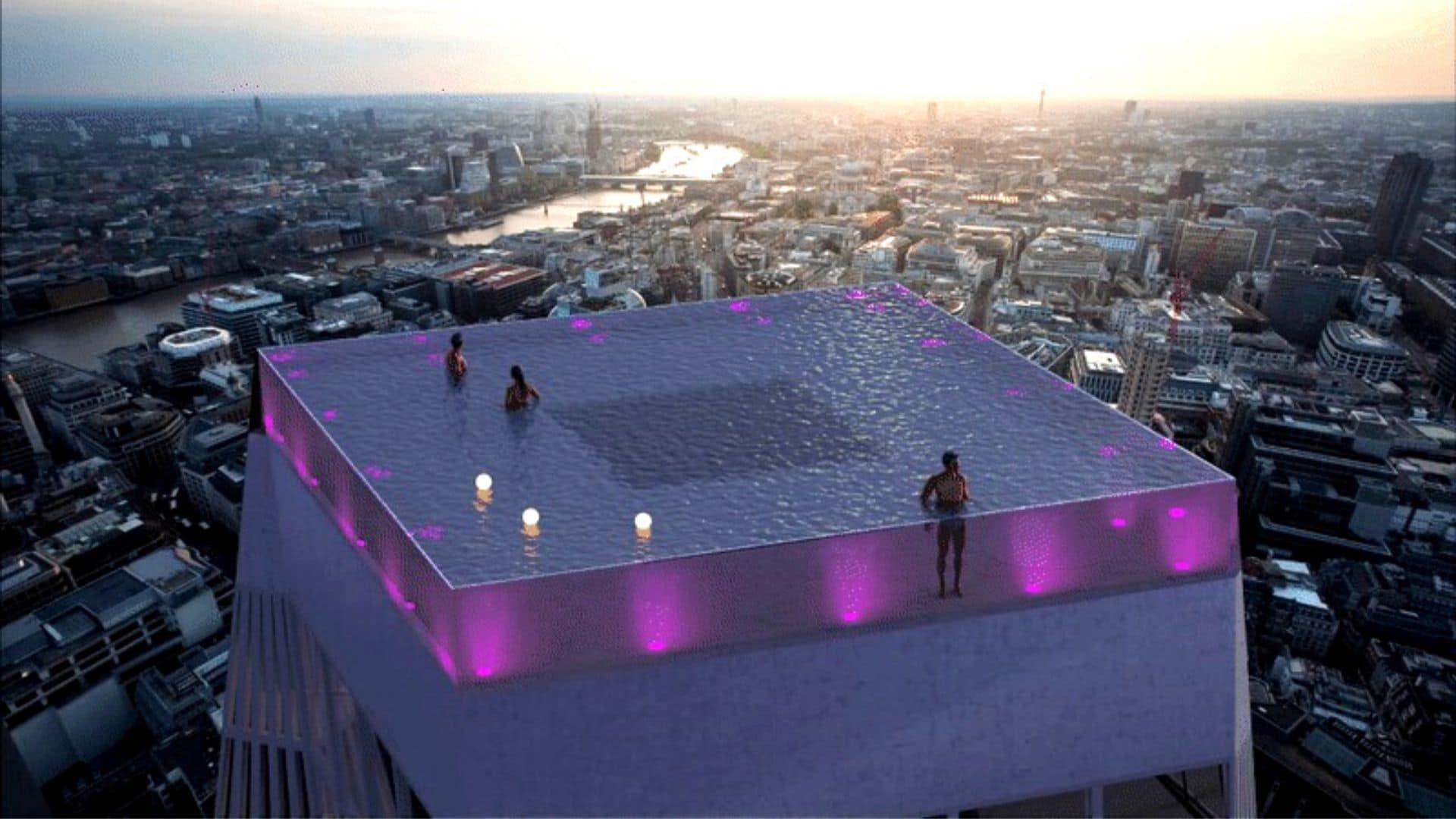 Londres : La 1Ère Piscine-Rooftop Du Monde Avec Vue À 360 ... dedans Piscine Londres