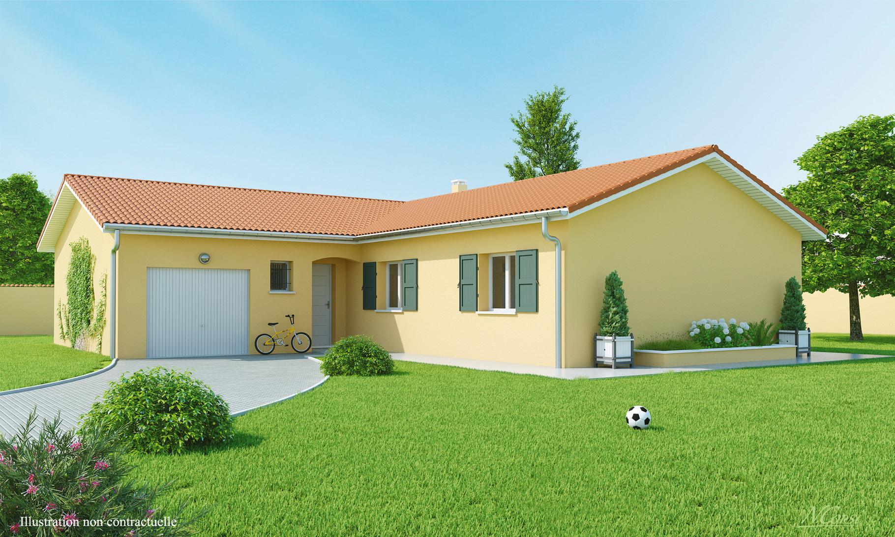 Maisons Plain-Pied - Maisons Axial Loire (42) avec Aménagement Extérieur Maison Plain Pied