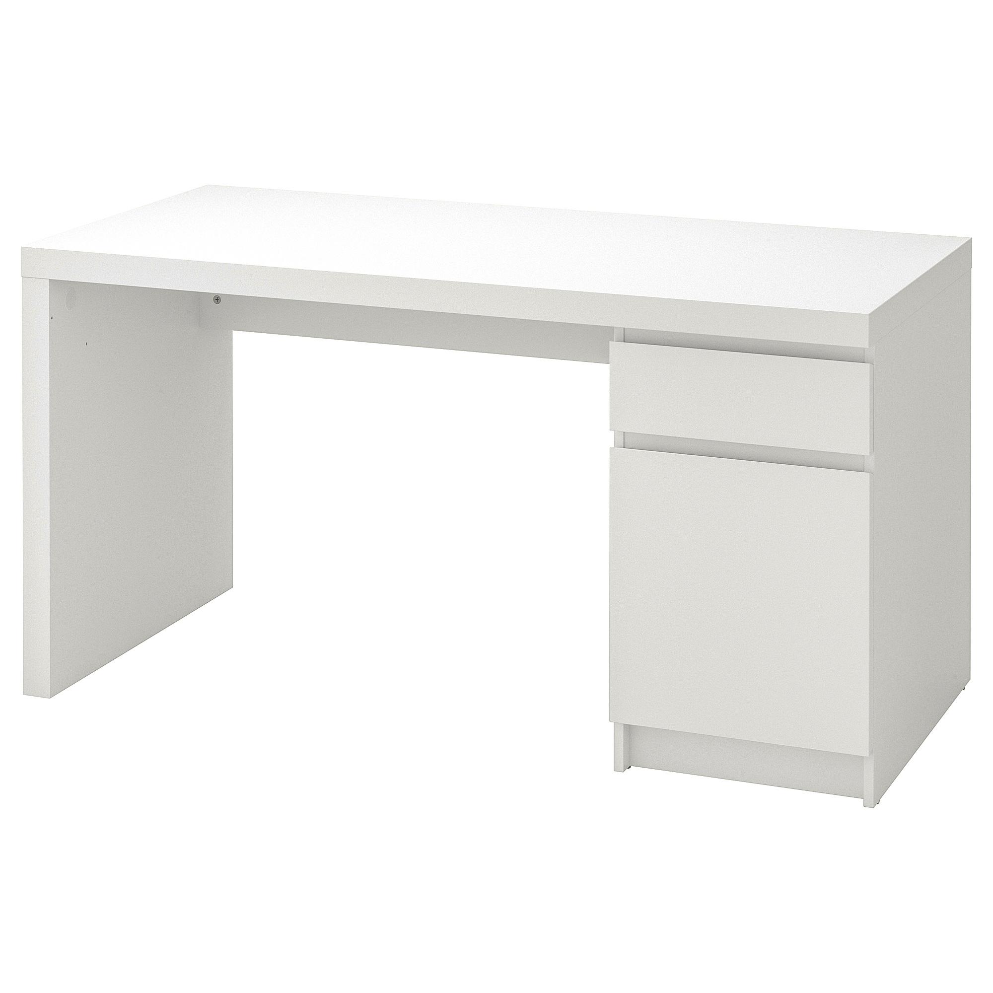 Malm Bureau - Blanc 140X65 Cm intérieur Ikea Maroc Bureau