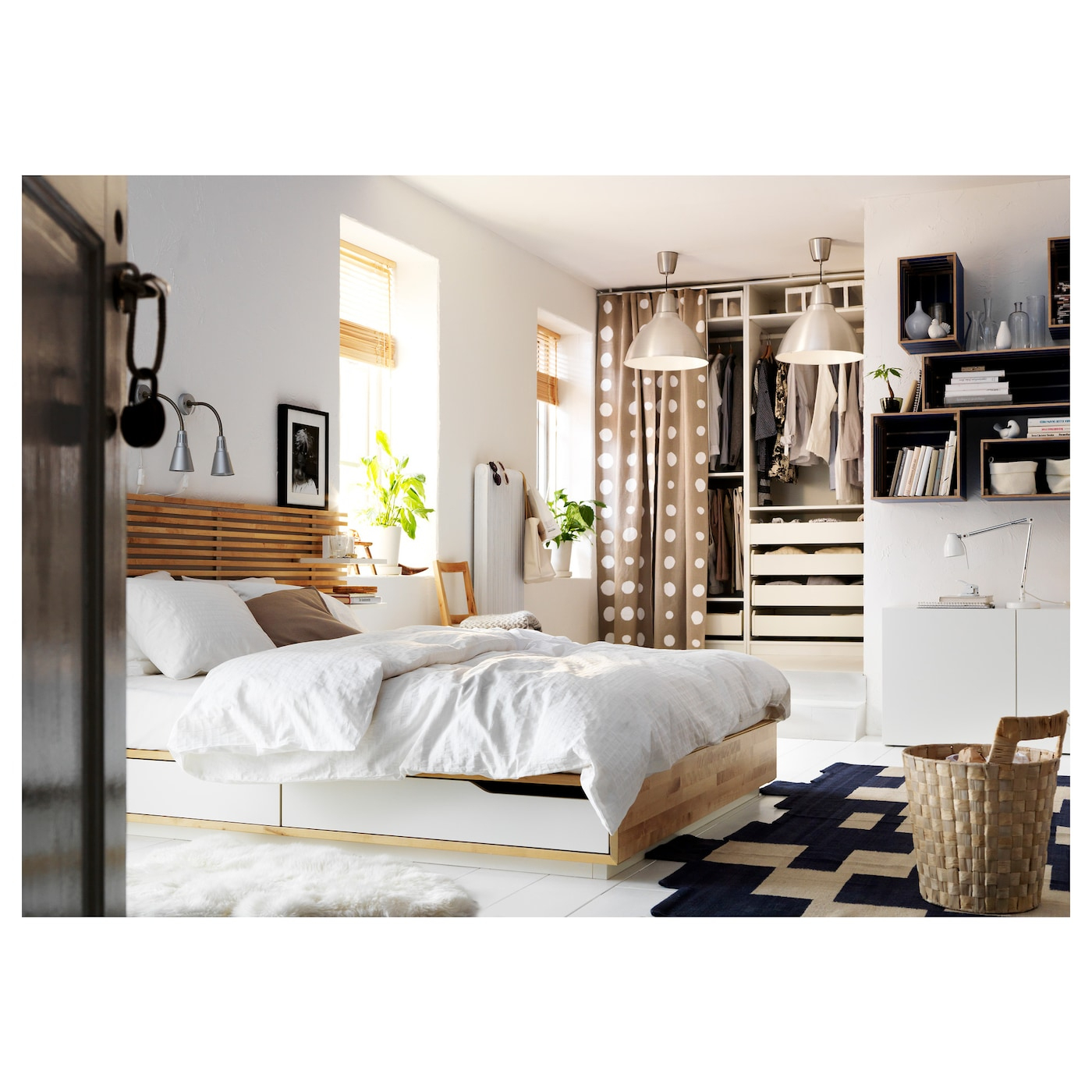 Mandal Tête De Lit - Bouleau/Blanc 240 Cm intérieur Coussins Tête De Lit Ikea