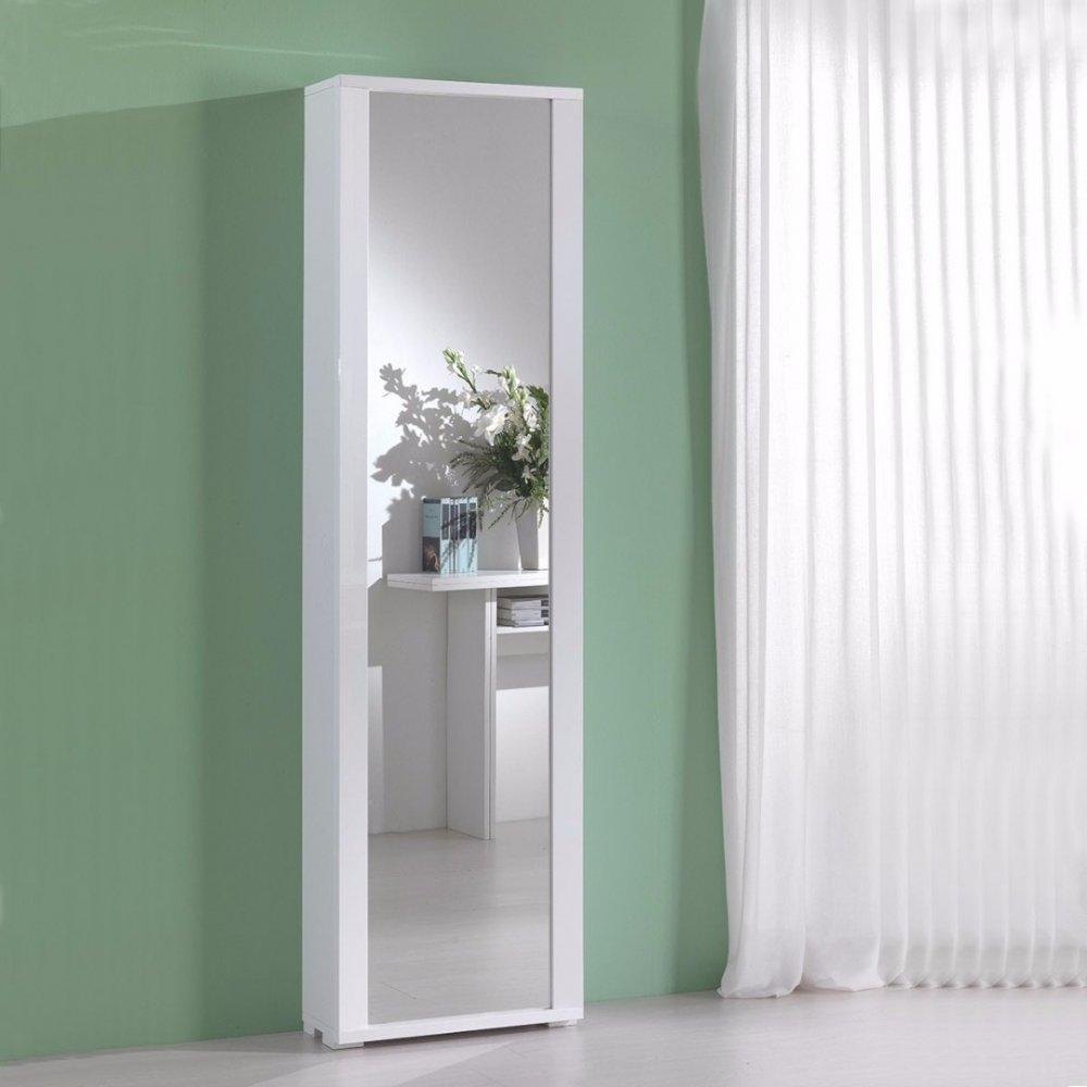 Meuble À Chaussures Millenium Blanc Avec Porte Miroir à Meuble Chaussure Design Italien
