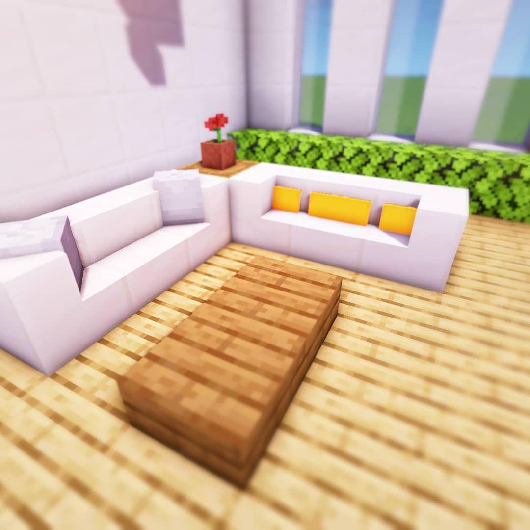 Minecraftbuildingideas | Minecraft Decorations, Minecraft ... intérieur Comment Faire Un Canapé Sur Minecraft
