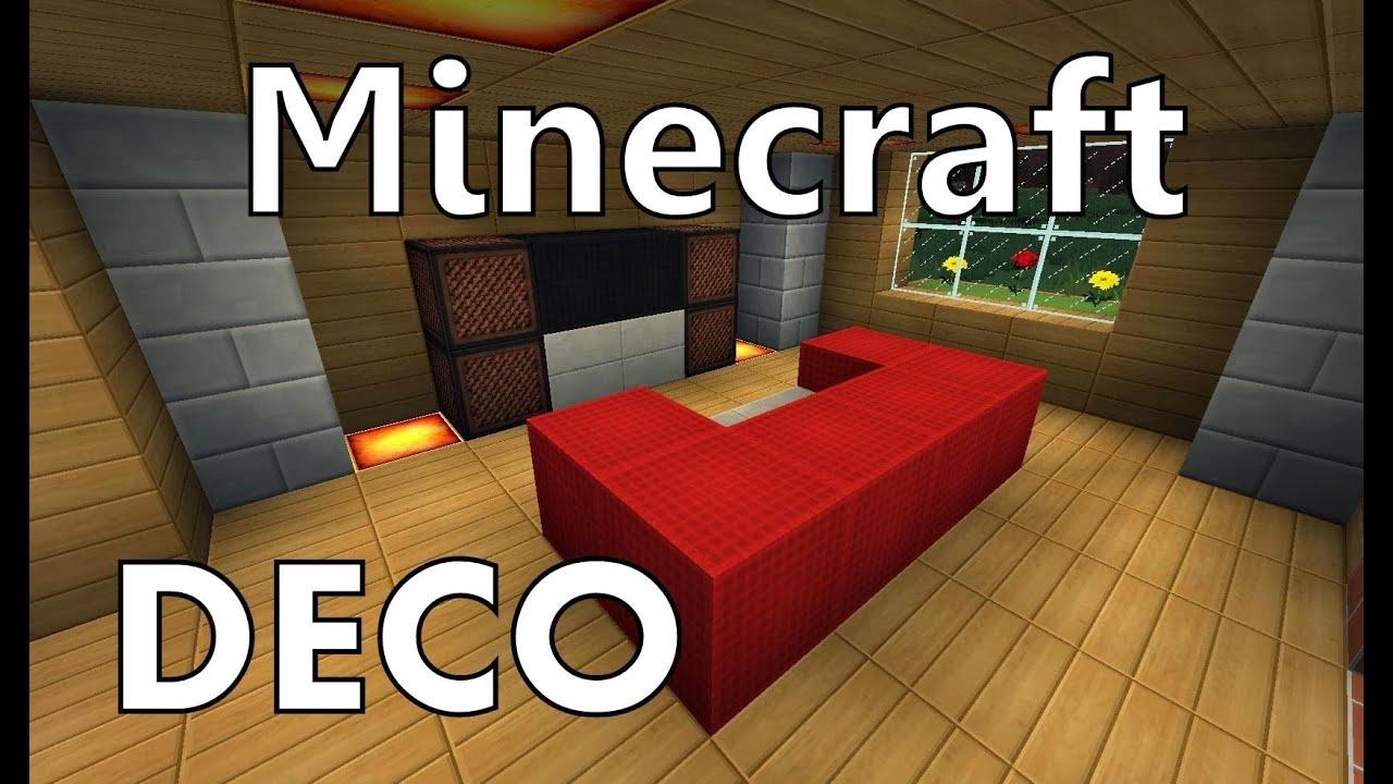 Minecraft|Comment Faire Un Canapé - à Faire Un Canapé Minecraft