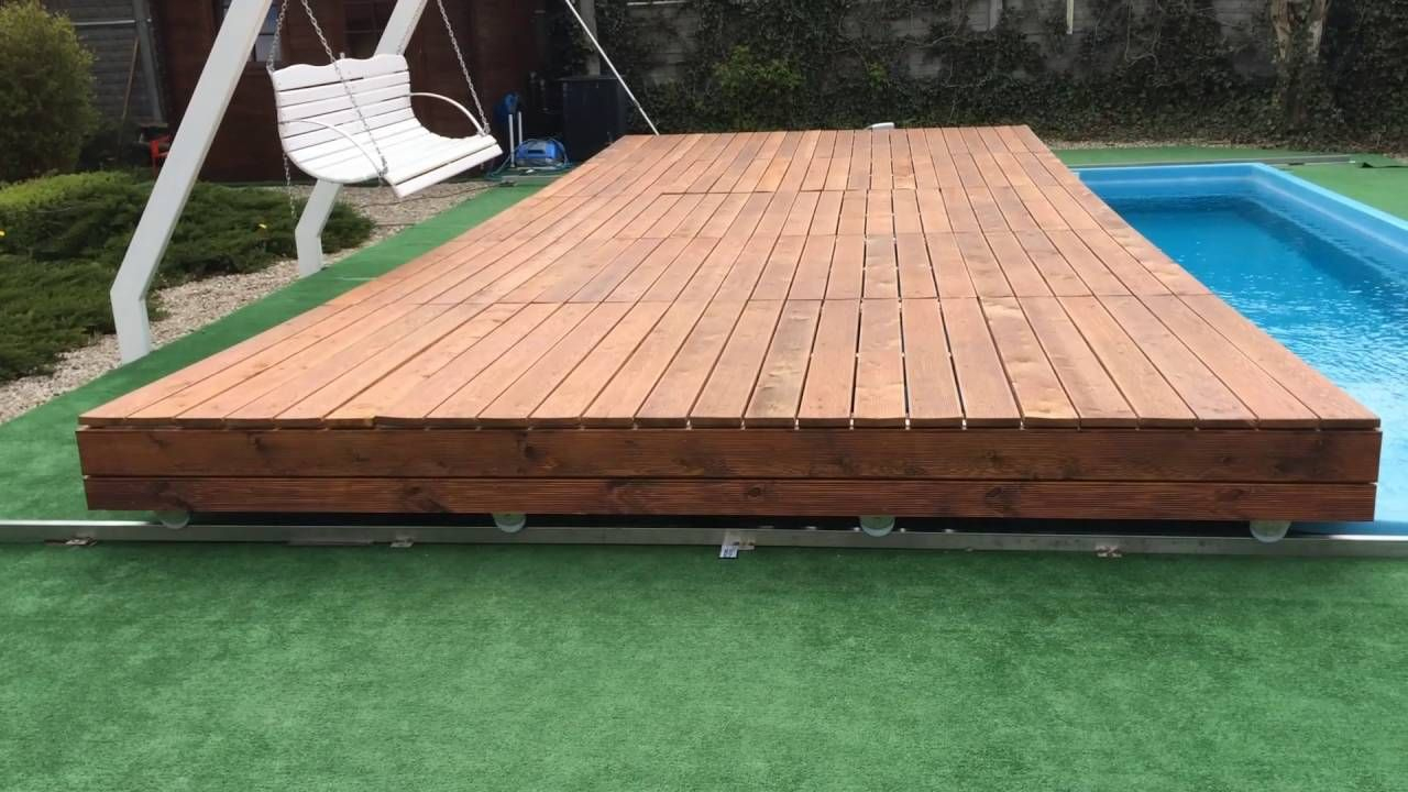 Mobile Pool Deck Terrace | Pool Deck Ideen, Containerpool ... tout Couverture Terrasse Amovible