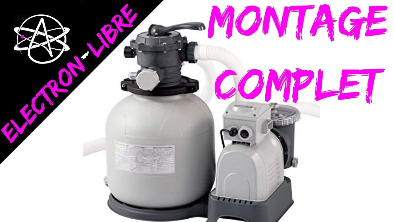 Montage Pompe A Sable 9.5 M3/H Intex concernant Pompe Filtration Piscine Hors Sol Intex