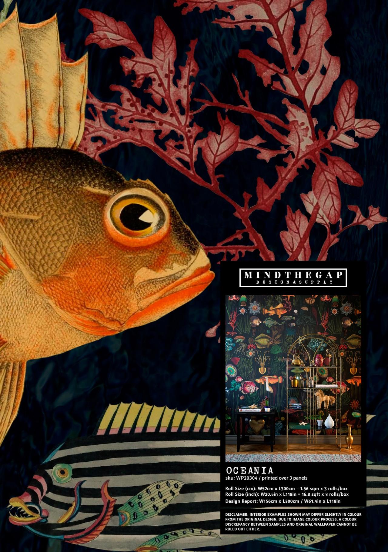 Oceania Wallpaper Sample - Wallpaper Samples - Wallpaper ... dedans Chaise Oceania