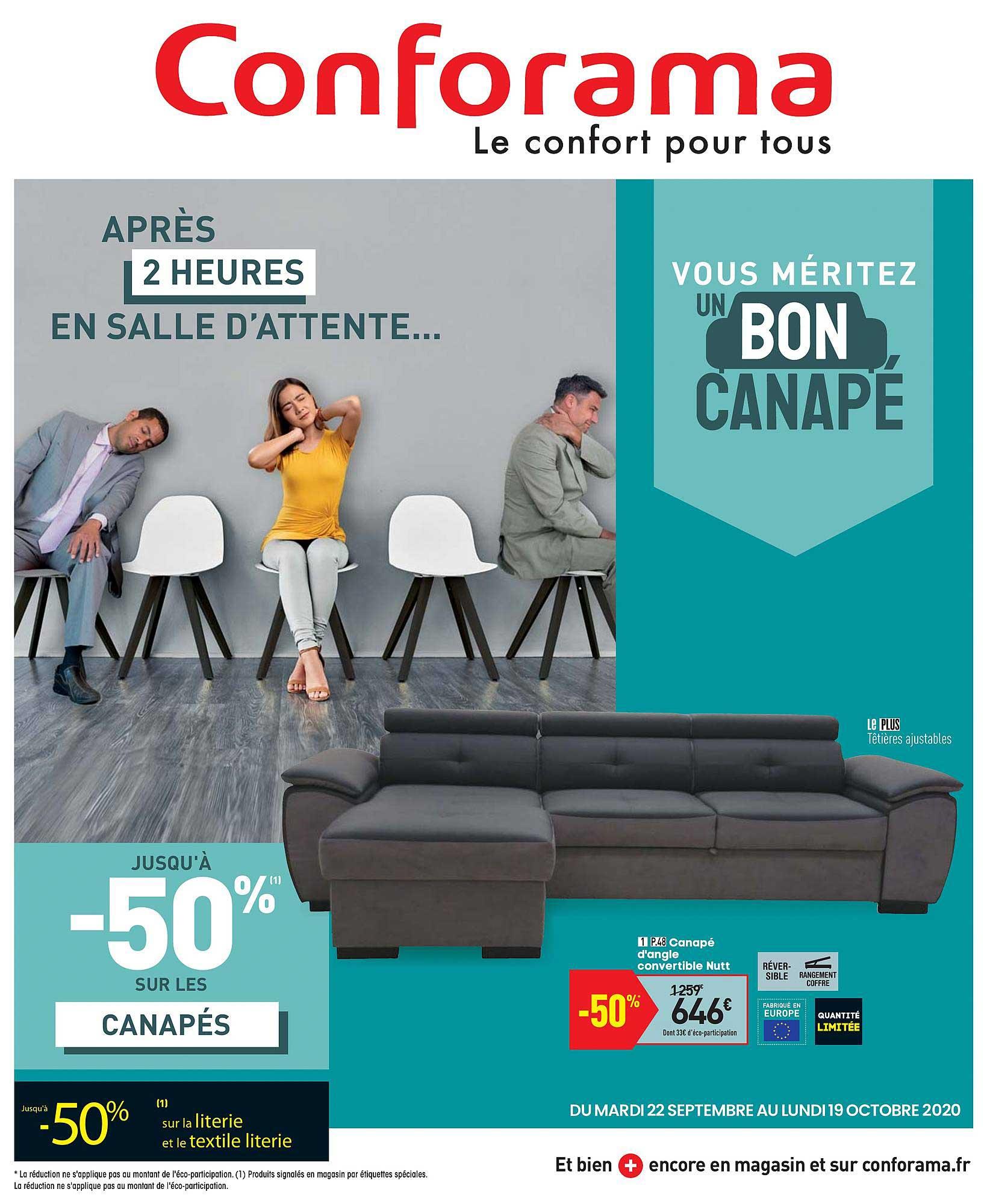 Offre Canapé D'Angle Convertible Ally 2 Chez Conforama concernant Canapé Ally 2