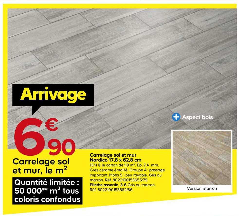 Offre Carrelage Antonio 30X90 Cm Chez Castorama pour Destockage Carrelage Castorama