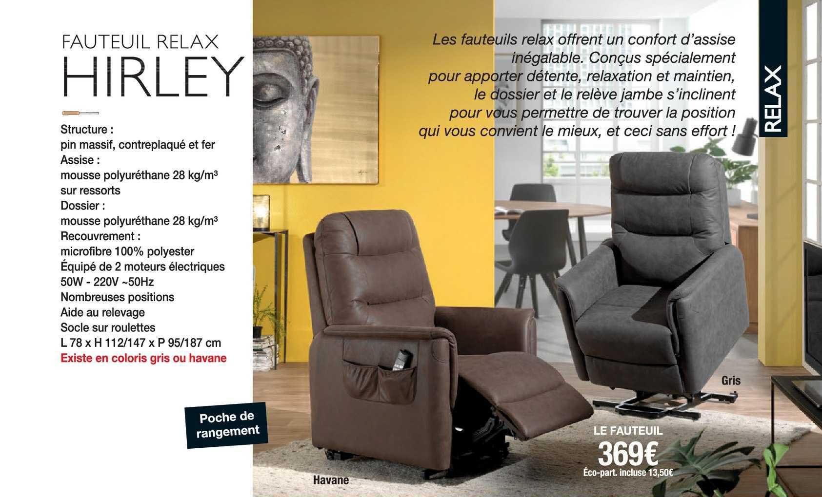 Offre Fauteuil Relax À Commande Manuelle Chez E Leclerc concernant Fauteuil Relax Foley