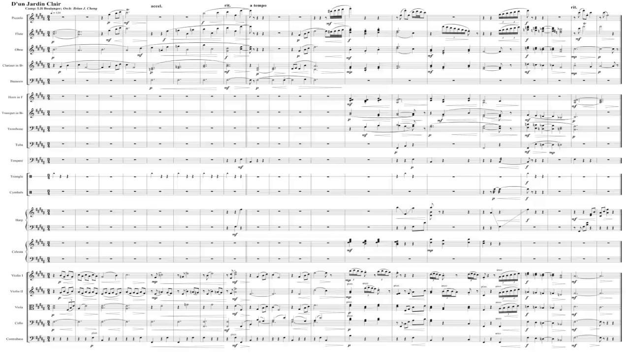 Orchestration Challenge 2020: D'Un Jardin Clair By Lili Boulanger concernant D'Un Jardin Claire