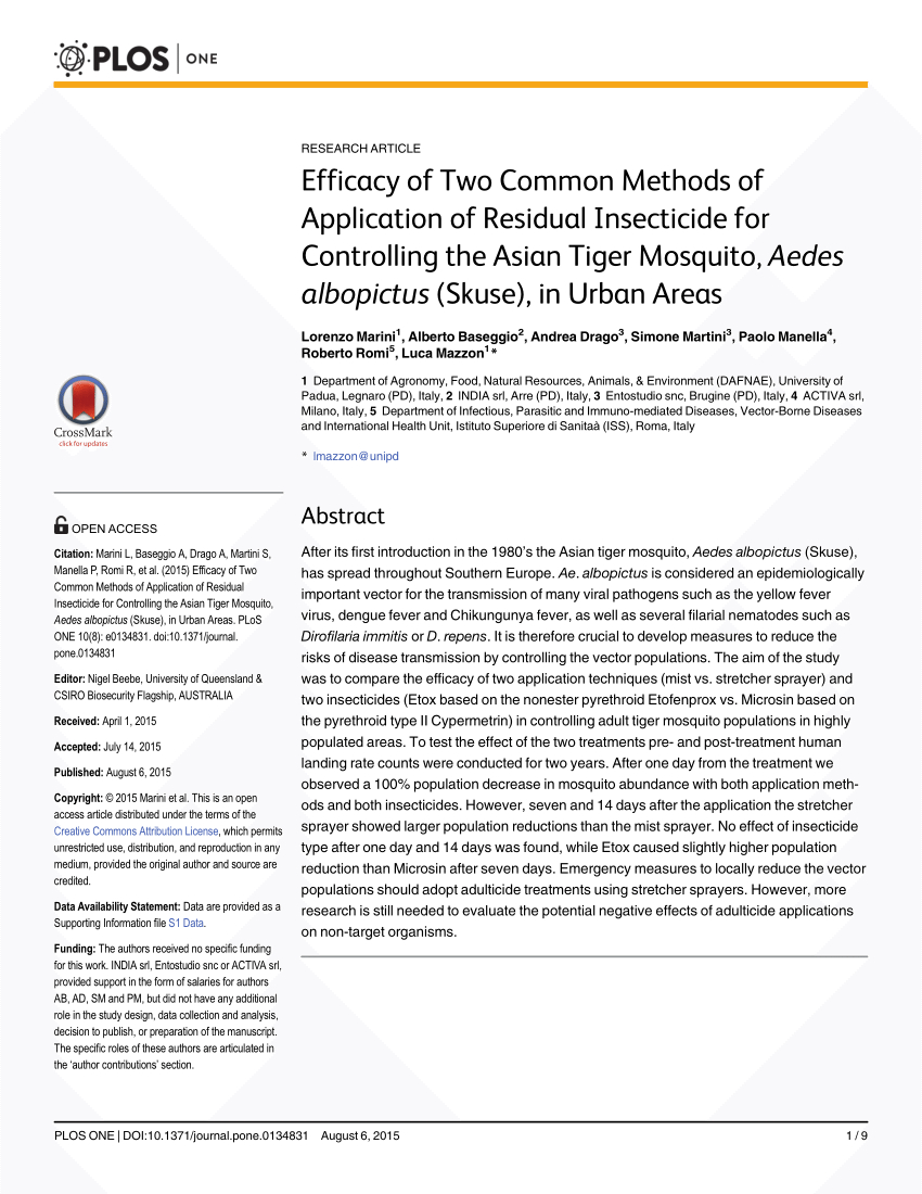 Pdf) Efficacy Of Two Common Methods Of Application Of ... à Etox 20/20 Ce