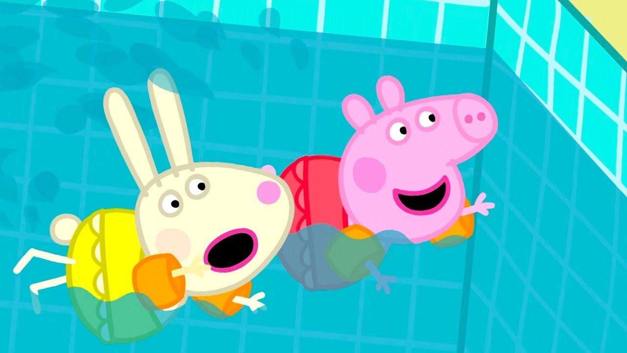Peppa Pig Français   Peppa Va À La Piscine   2018 Compilation   Dessin Animé intérieur Jeux De Peppa Pig A La Piscine