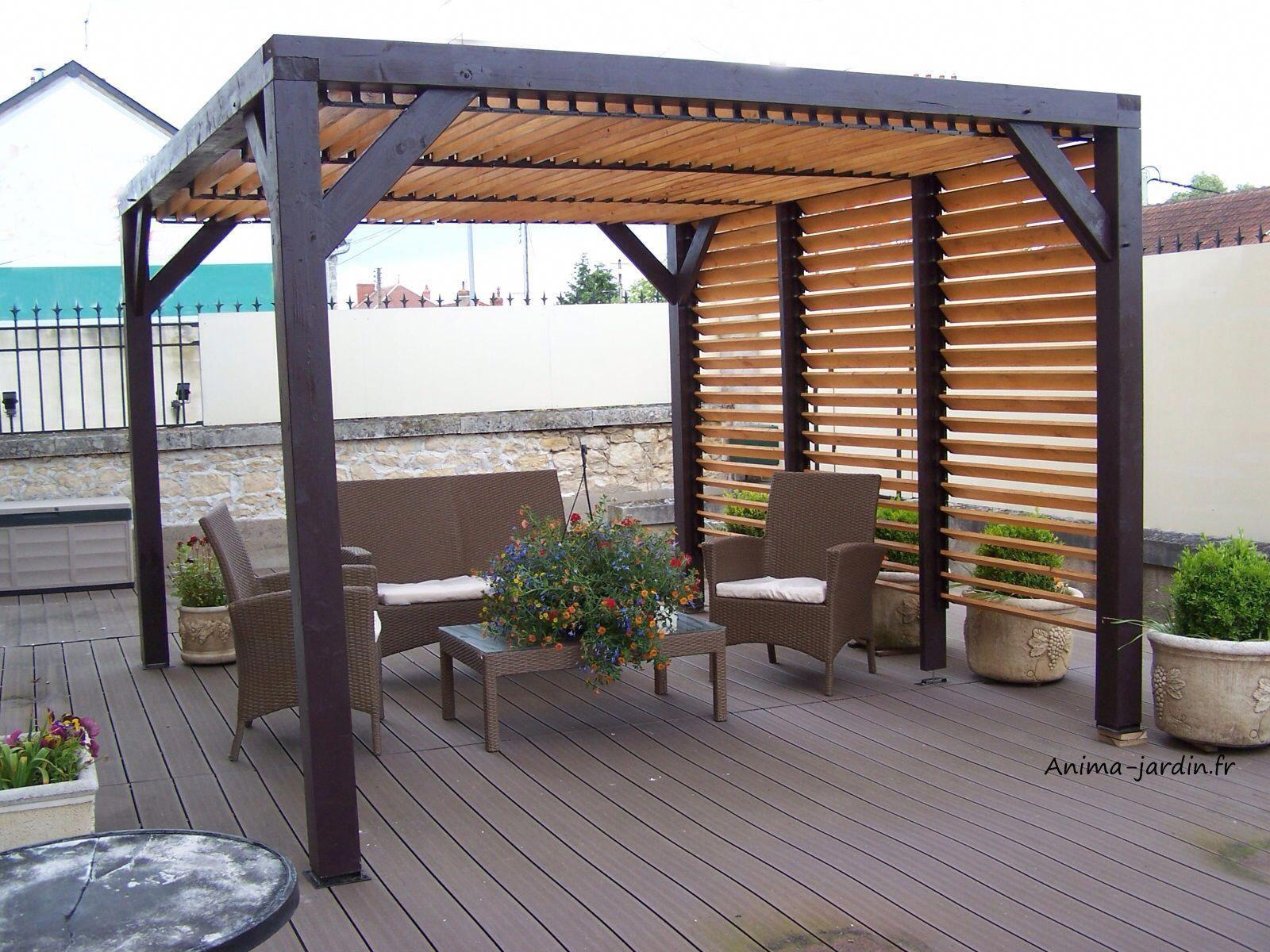 Pergola Attached To House Plans #Pergolaoverhottub ... tout Couverture Terrasse Amovible