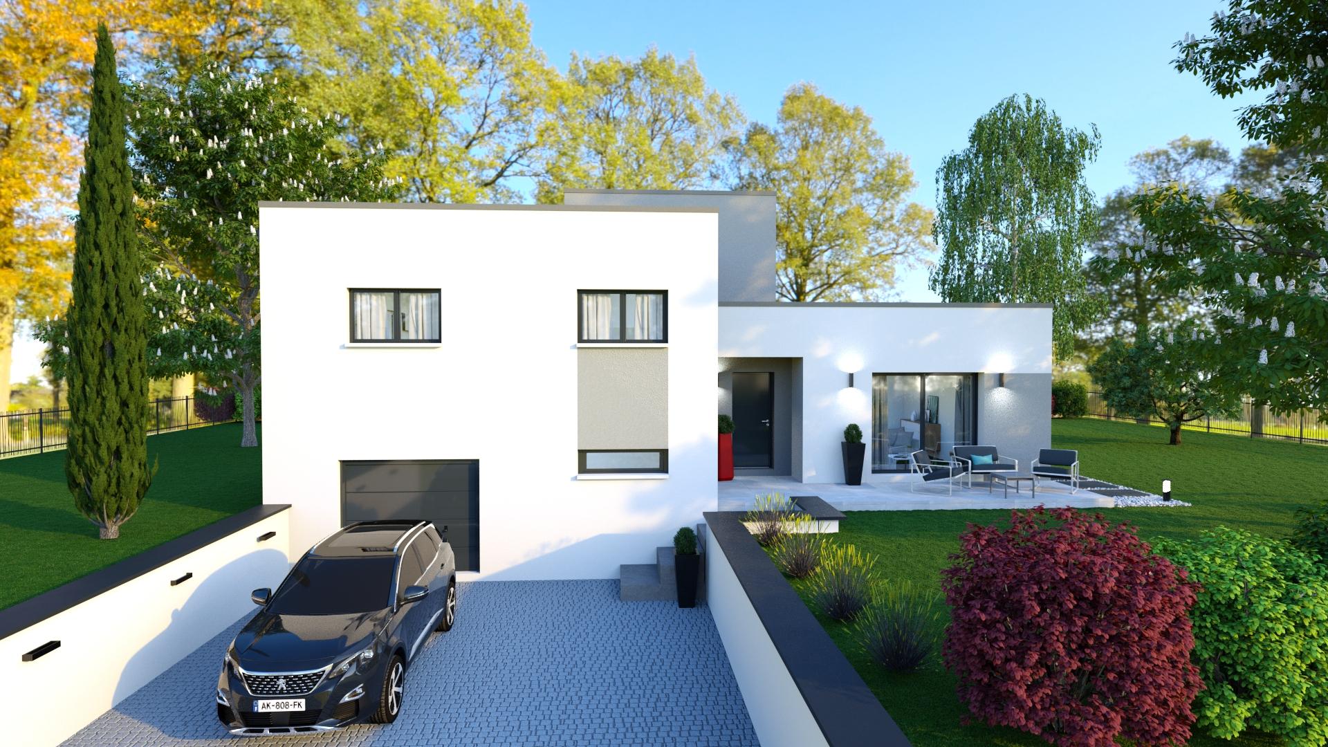 Perle, Maison Sous-Sol Avec Toiture Terrasse, 3 Chambres ... pour Maisons Design En Pente