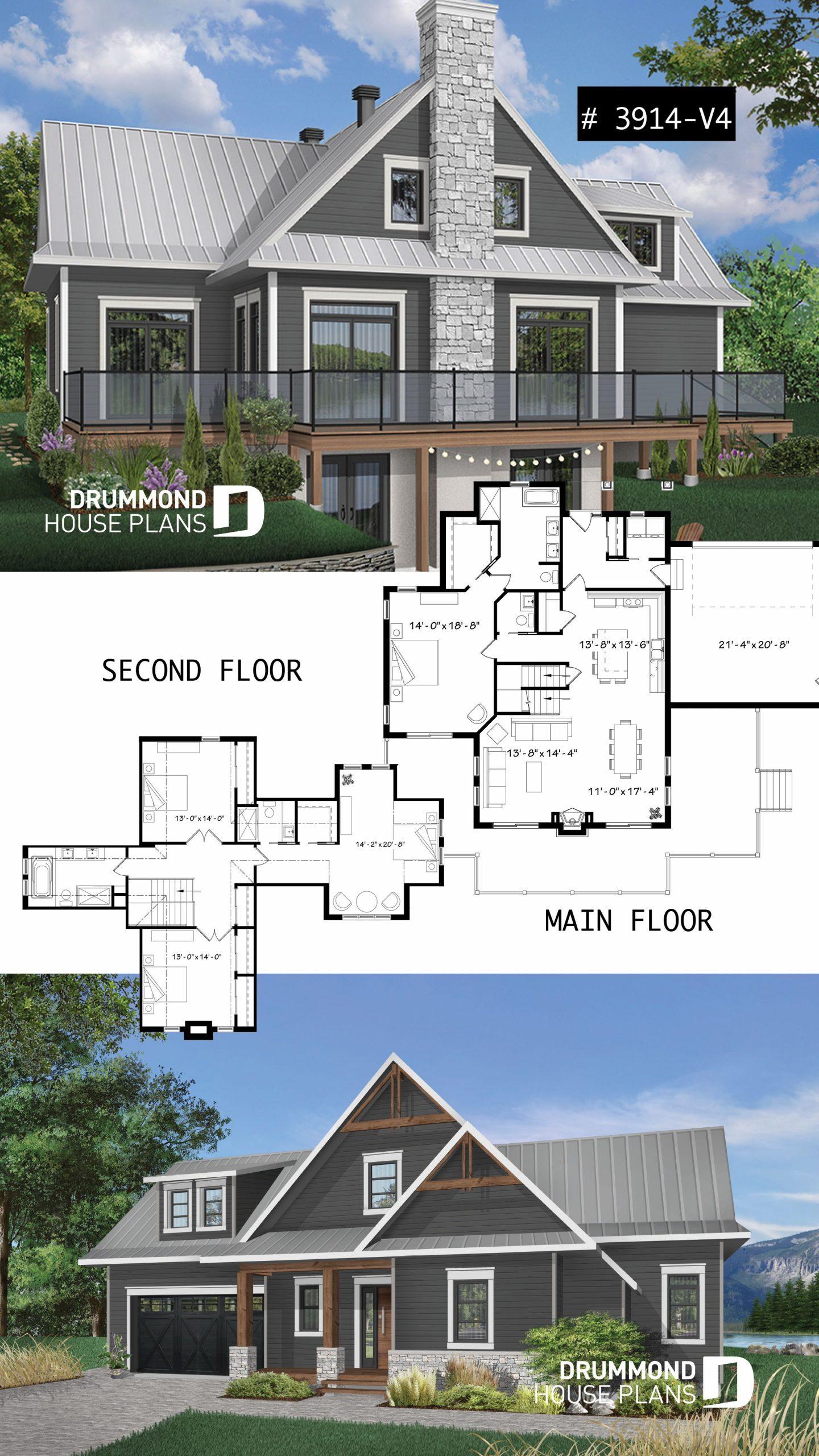 Pin On House Plans destiné Plan Chalet 18 20