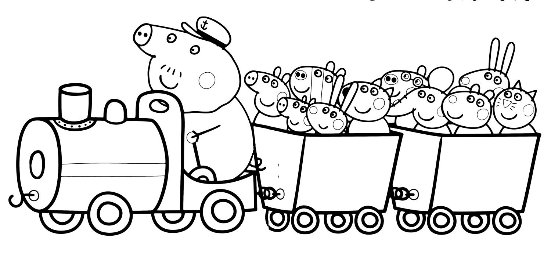 Pin On Toddler Coloring tout Jeux De Peppa Pig A La Piscine