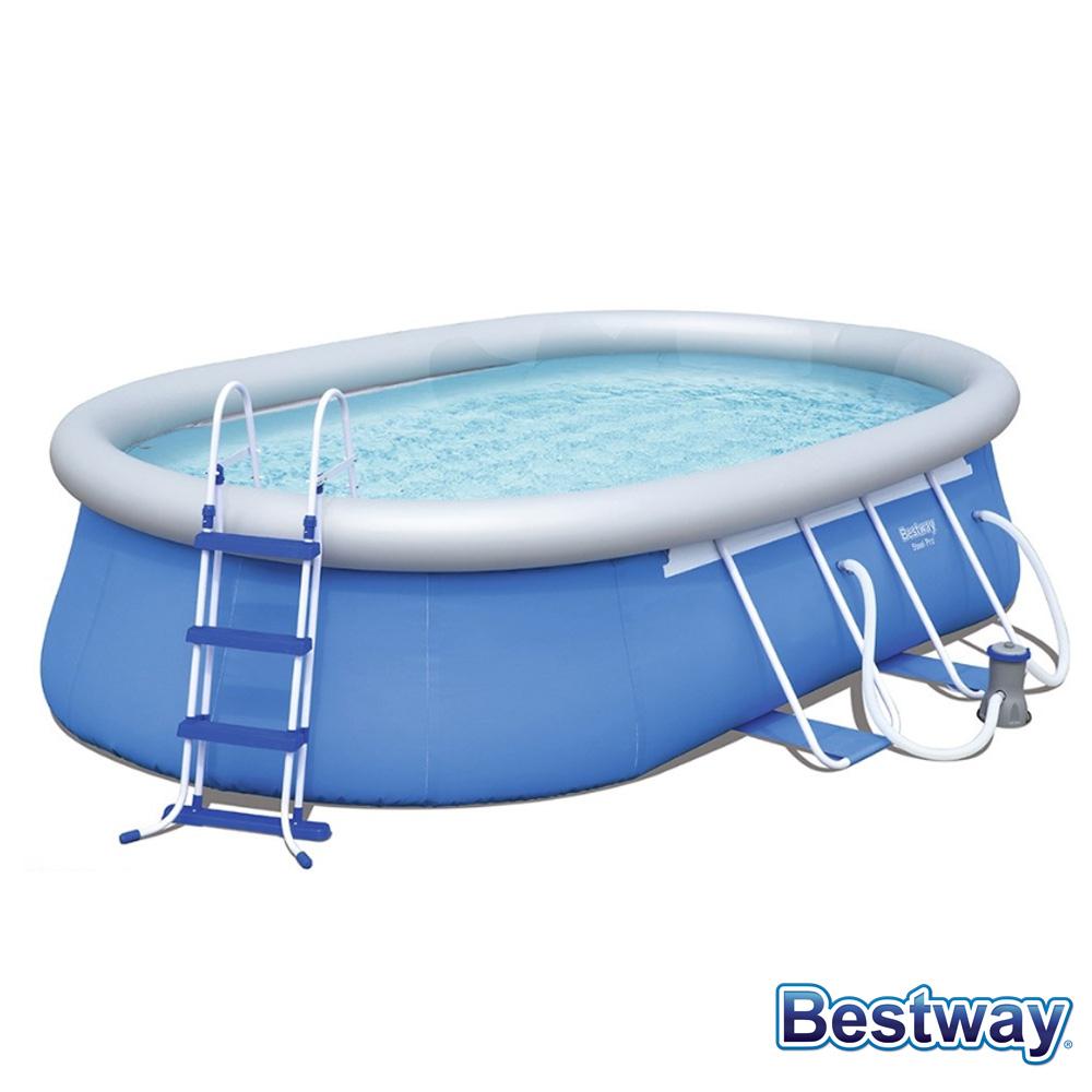 Piscine Autoportante Ovale Fast Set Pools L.549 X L.366 X H.122 tout Piscine Ovale Autoportée
