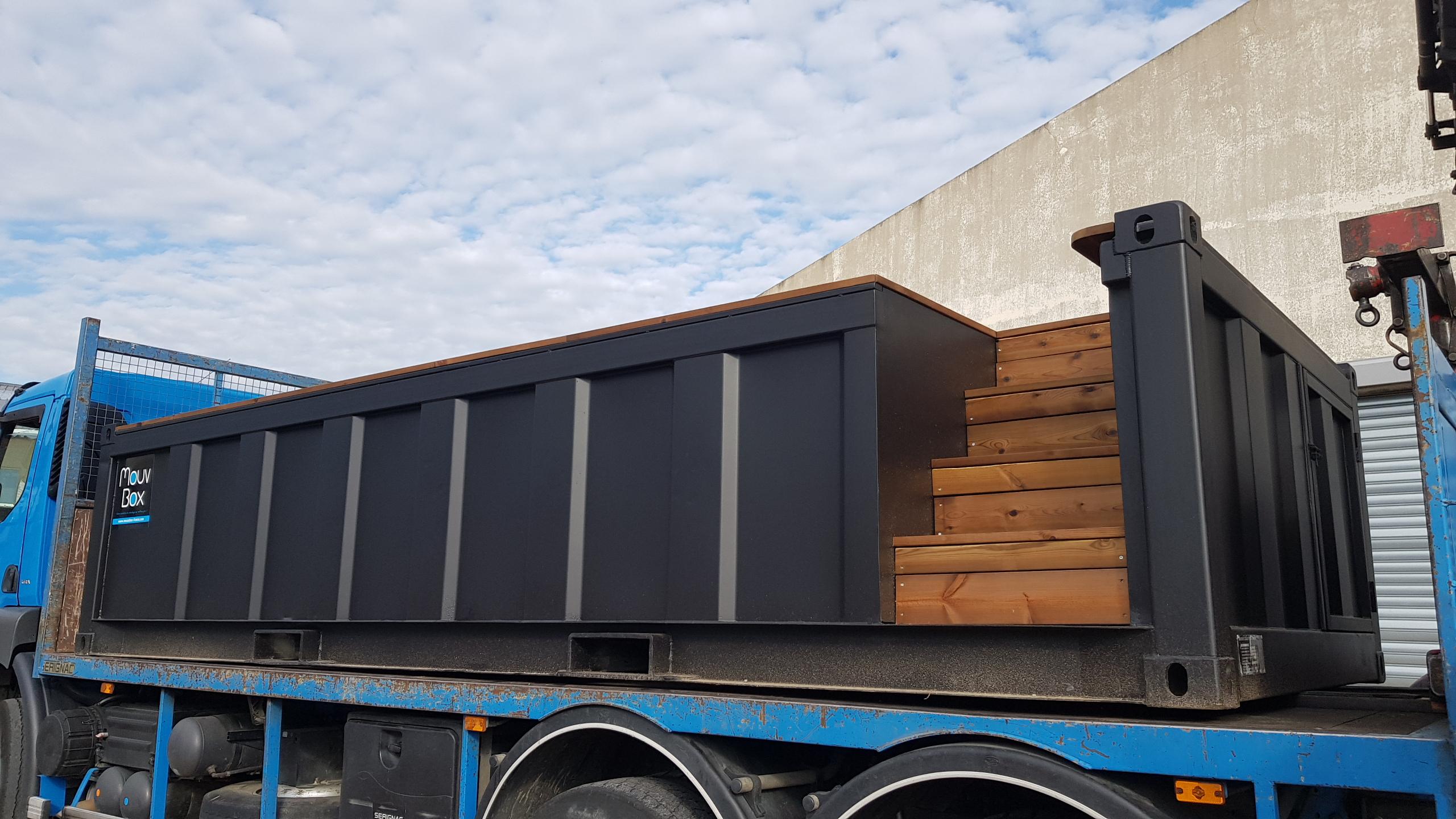 Piscine Box 20′ (6M X 2.40M) à Piscine Container France