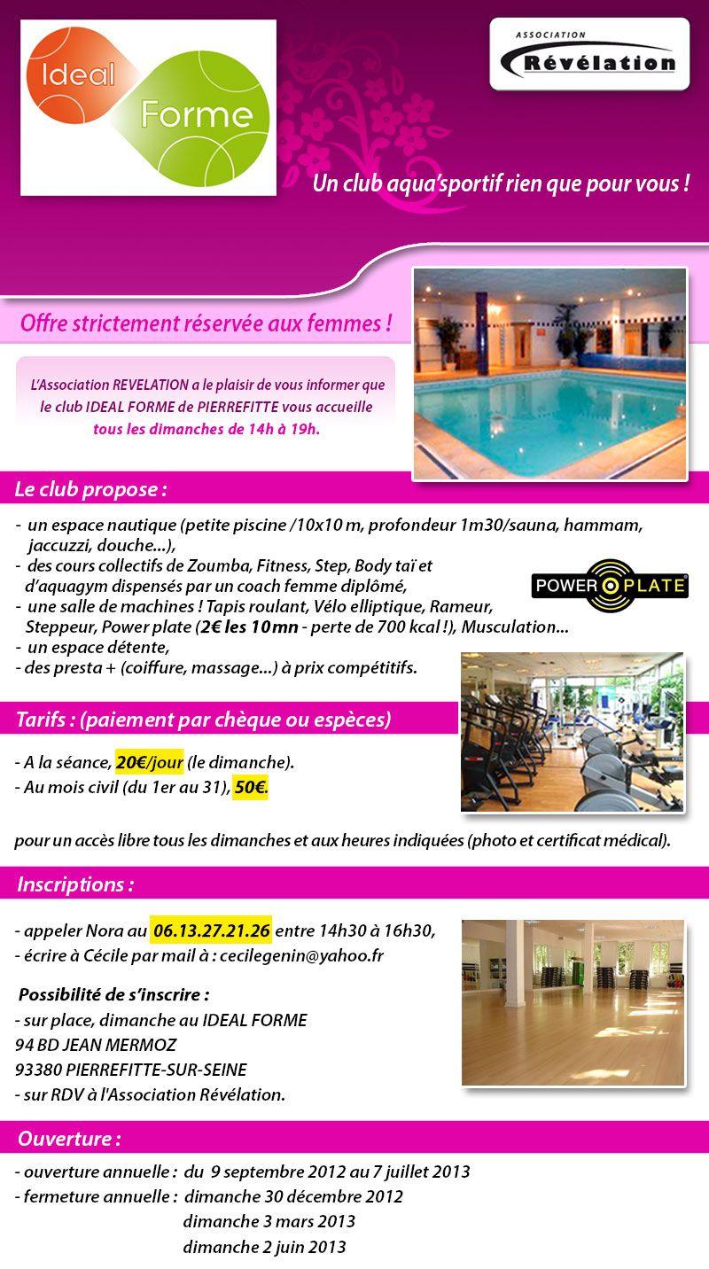 Piscine Et Club De Gym Pour Femmes Au Club Idealforme De ... avec Piscine Réservée Aux Femmes Musulmanes
