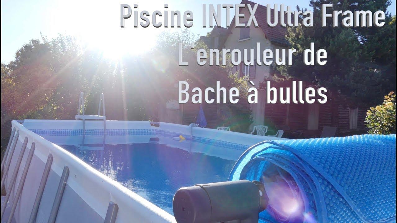 Piscine Intex : Enrouleur De Bache À Bulles tout Bache A Bulle Piscine Intex