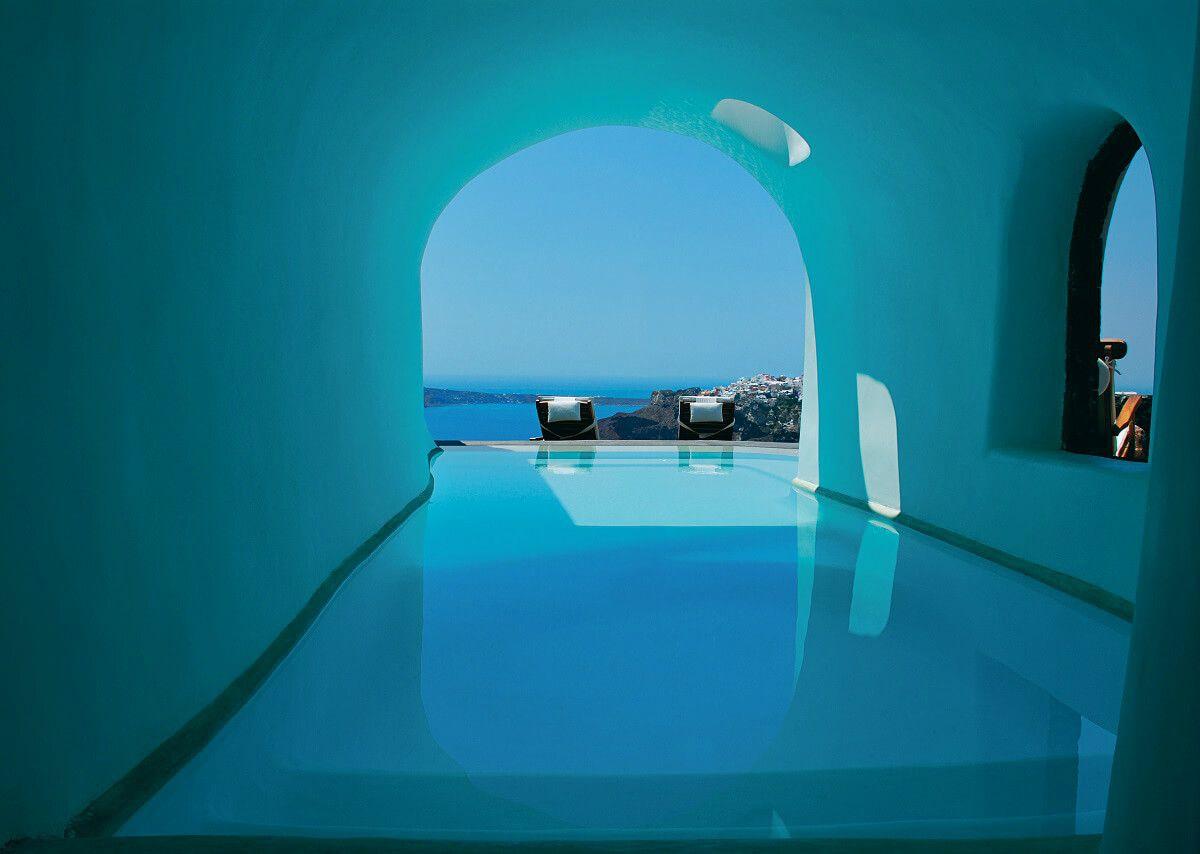 Piscine Privée À L'Hôtel Perivolas Grece Oia | Santorin ... intérieur Hotel Santorin Avec Piscine Privée