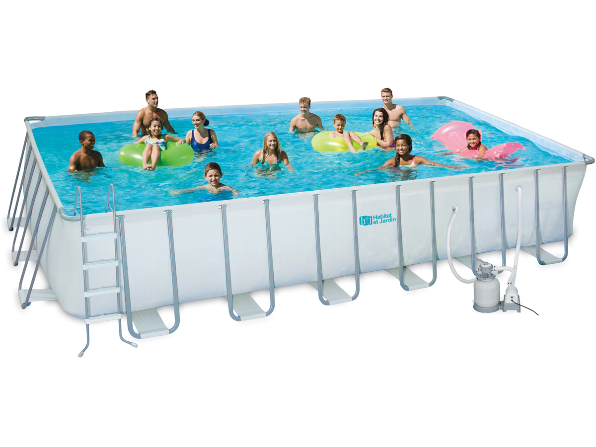Piscine Tubulaire - 5,49 X 2,74 X 1,32 M - Sans Filtration ... pour Piscine Intex Ultra Xtr Rectangulaire 5 49X2 74X1 32