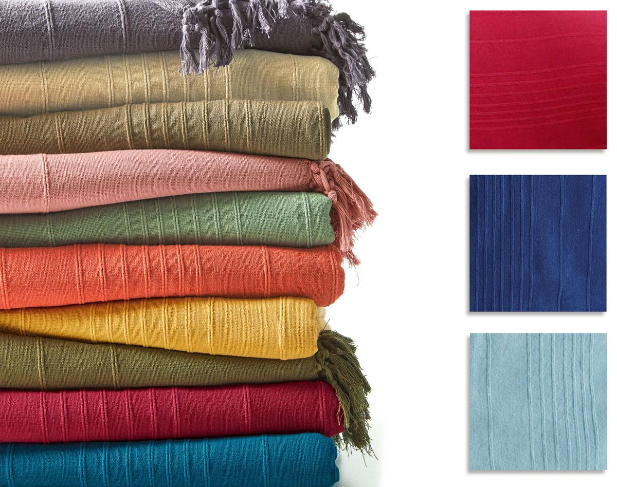 Plaid Et Jeté Unis En Coton   Becquet avec Plaid Canapé Grande Taille