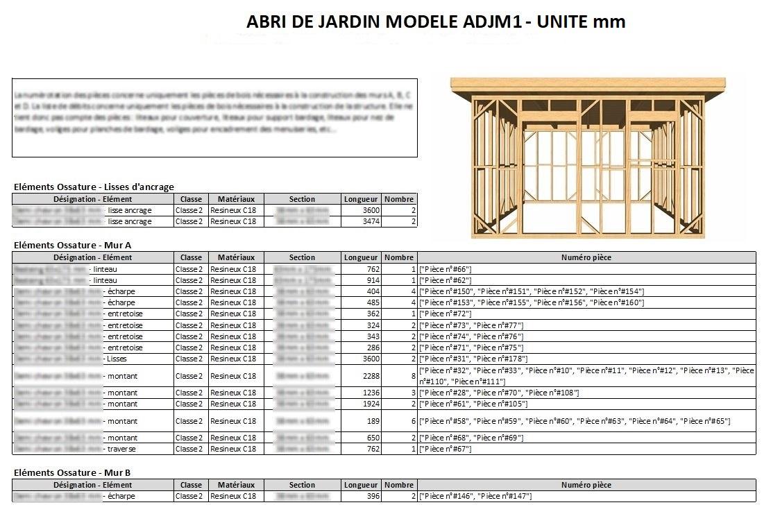 Plans À Ossature Bois Pour Autoconstruction Abri De Jardin ... pour Plan Abri De Jardin Pdf Gratuit