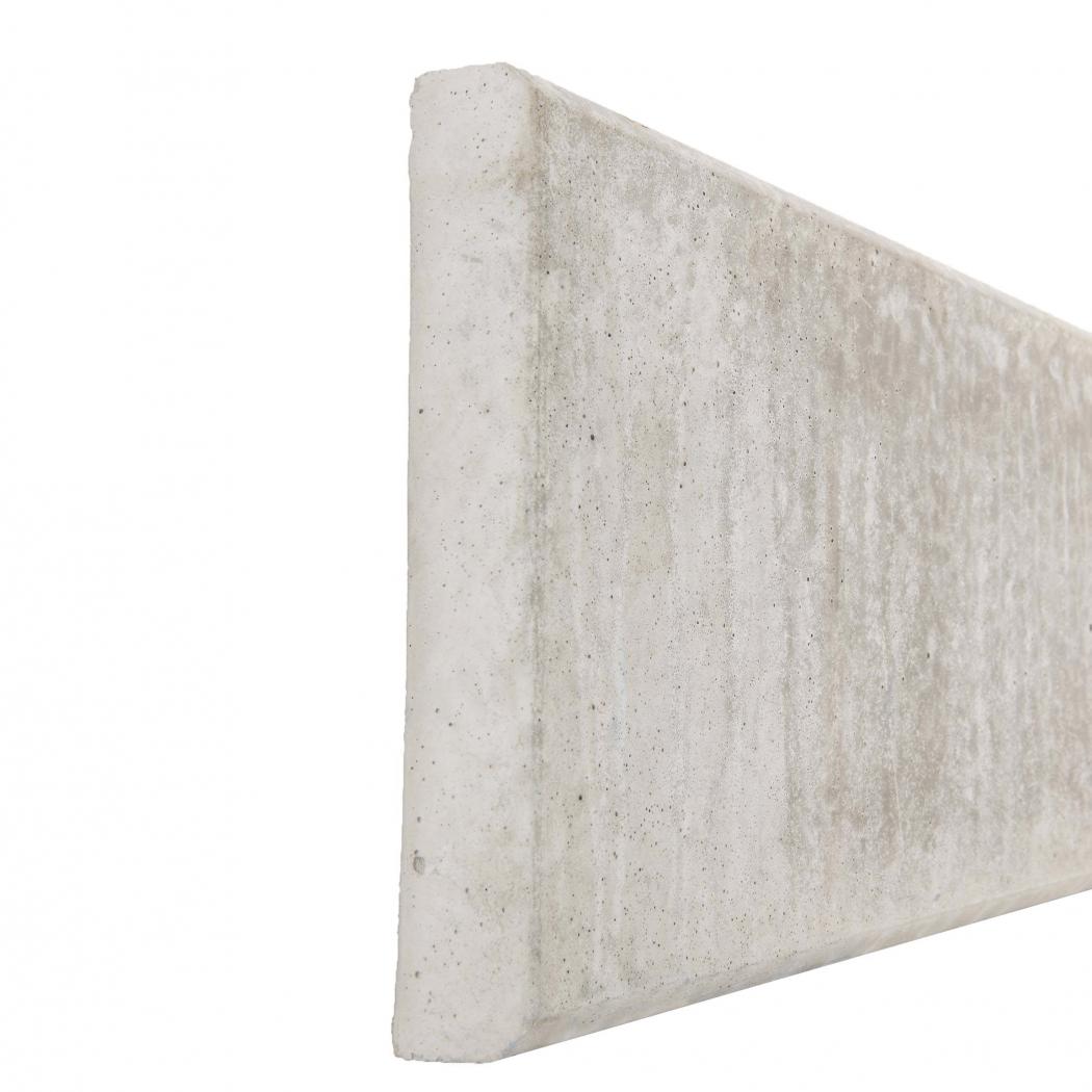 Plaque De Beton Soubassement Pour Cloture, Longueur 2M50 pour Plaque Béton Clôture Bricomarche