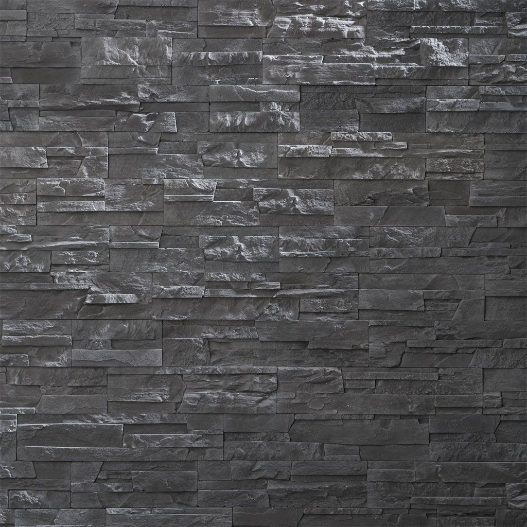 Plaquette De Parement Liberty Graphite 0.52M² | Bricoman ... intérieur Pierre De Parement Bricoman