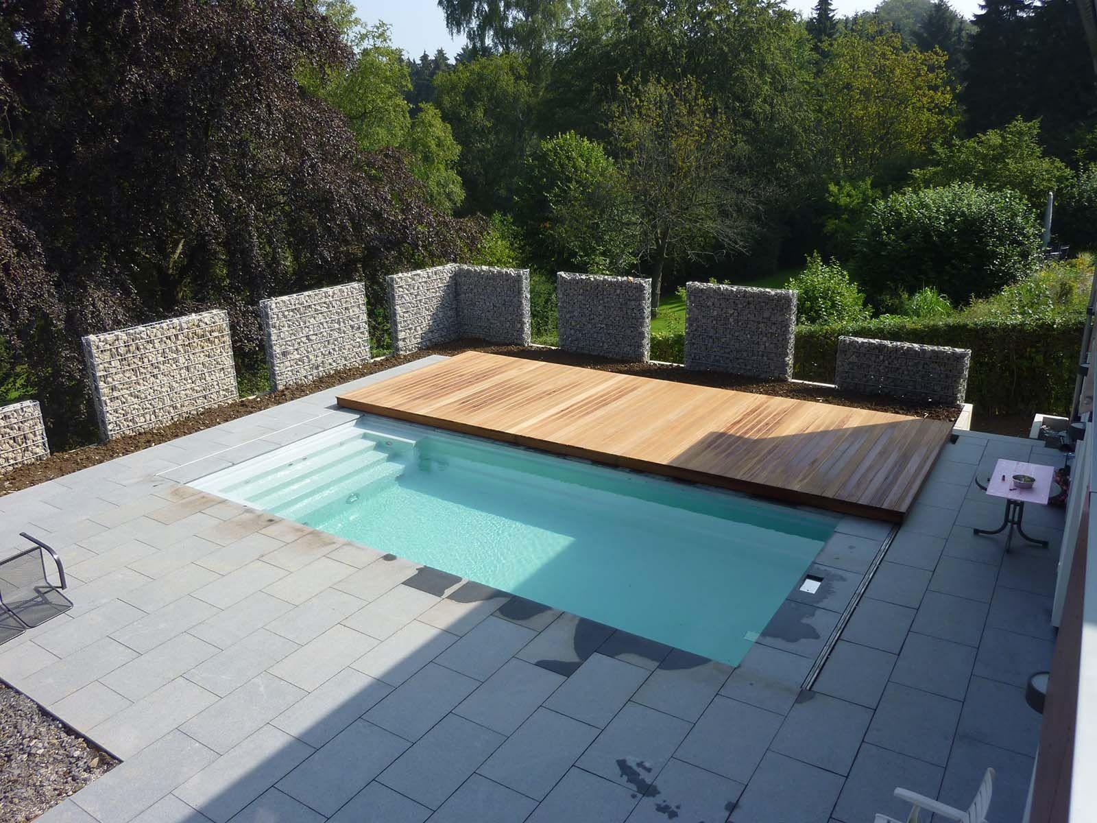 Pooldeck Terrasse Die Begehbare Schwimmbadabdeckung ... avec Idee Terrasse Piscine