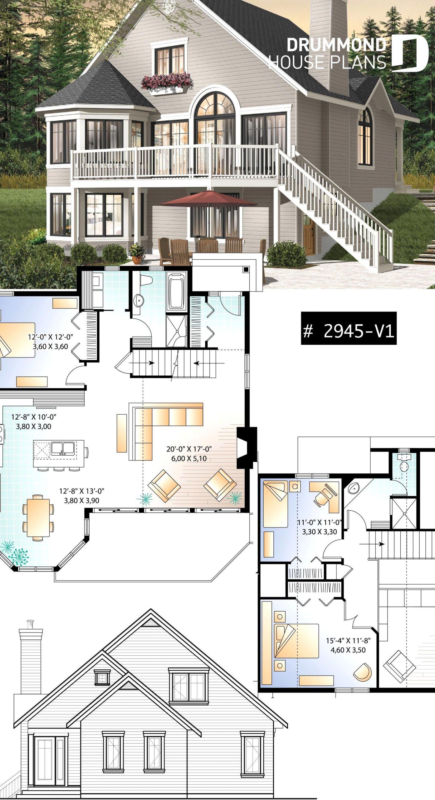 Popular 3 Bedroom Chalet With Mezzanine And Convivial Floor ... destiné Plan Chalet 18 20