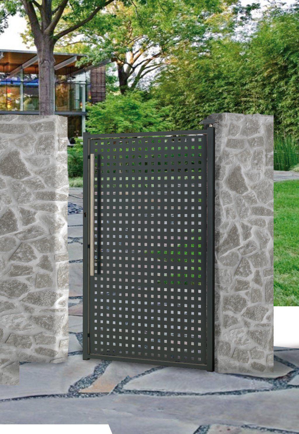 Portail, Portillon, Clôture Acier - Alix | Portes De Jardin ... destiné Porte De Jardin En Métal