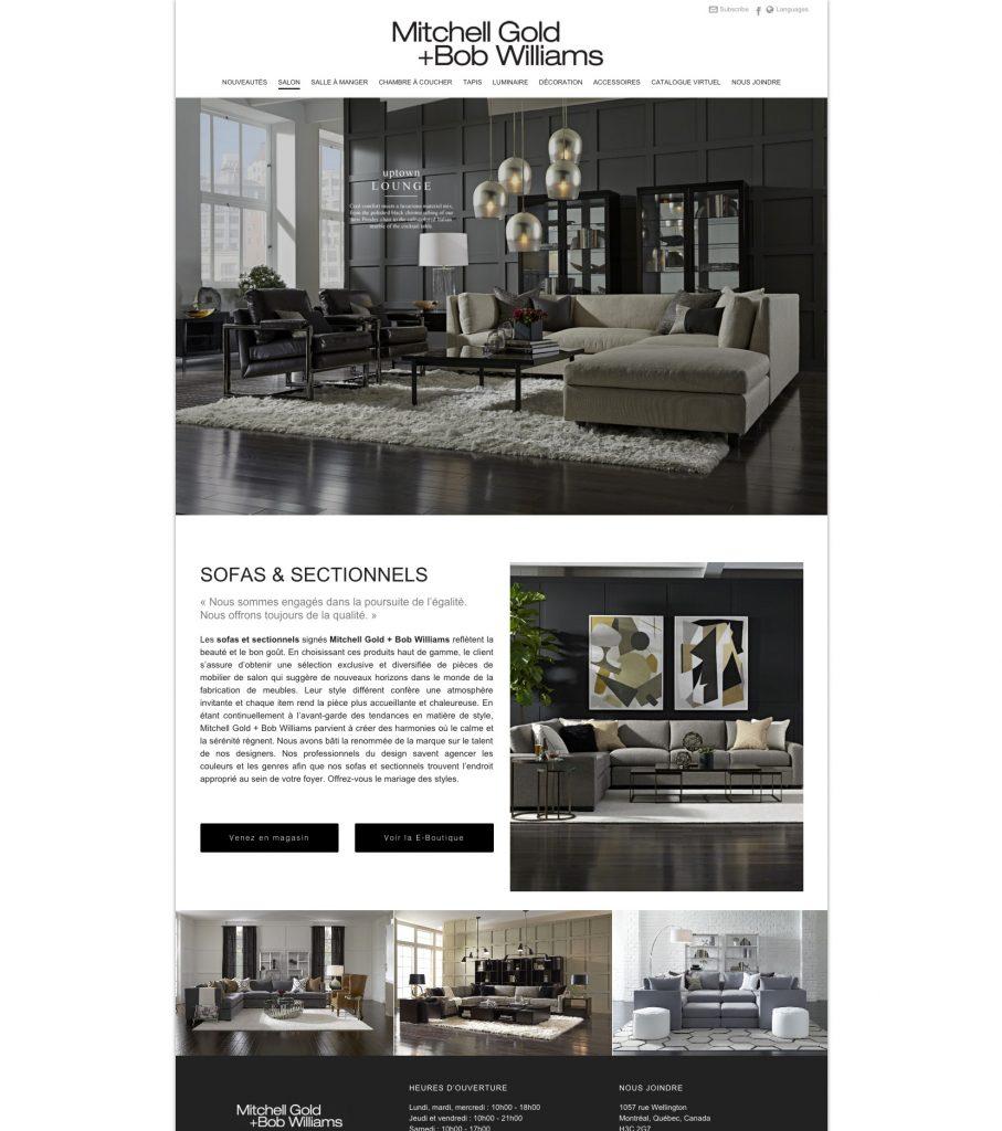 Portfolio - Designer & Intégrateur Web | Mitchell Gold + Bob ... serapportantà Mitchell Gold Montreal
