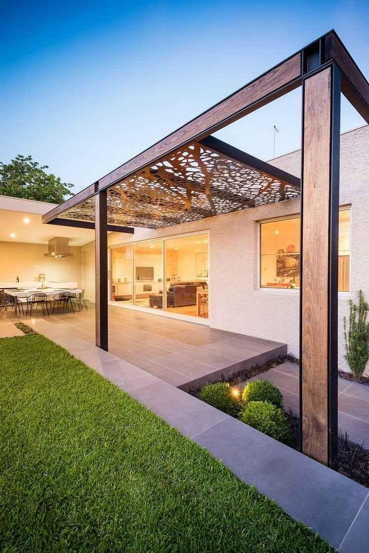 Protection Solaire: 55 Idées Pour La Terrasse Extérieur ... intérieur Terrasse Couvertemoderne