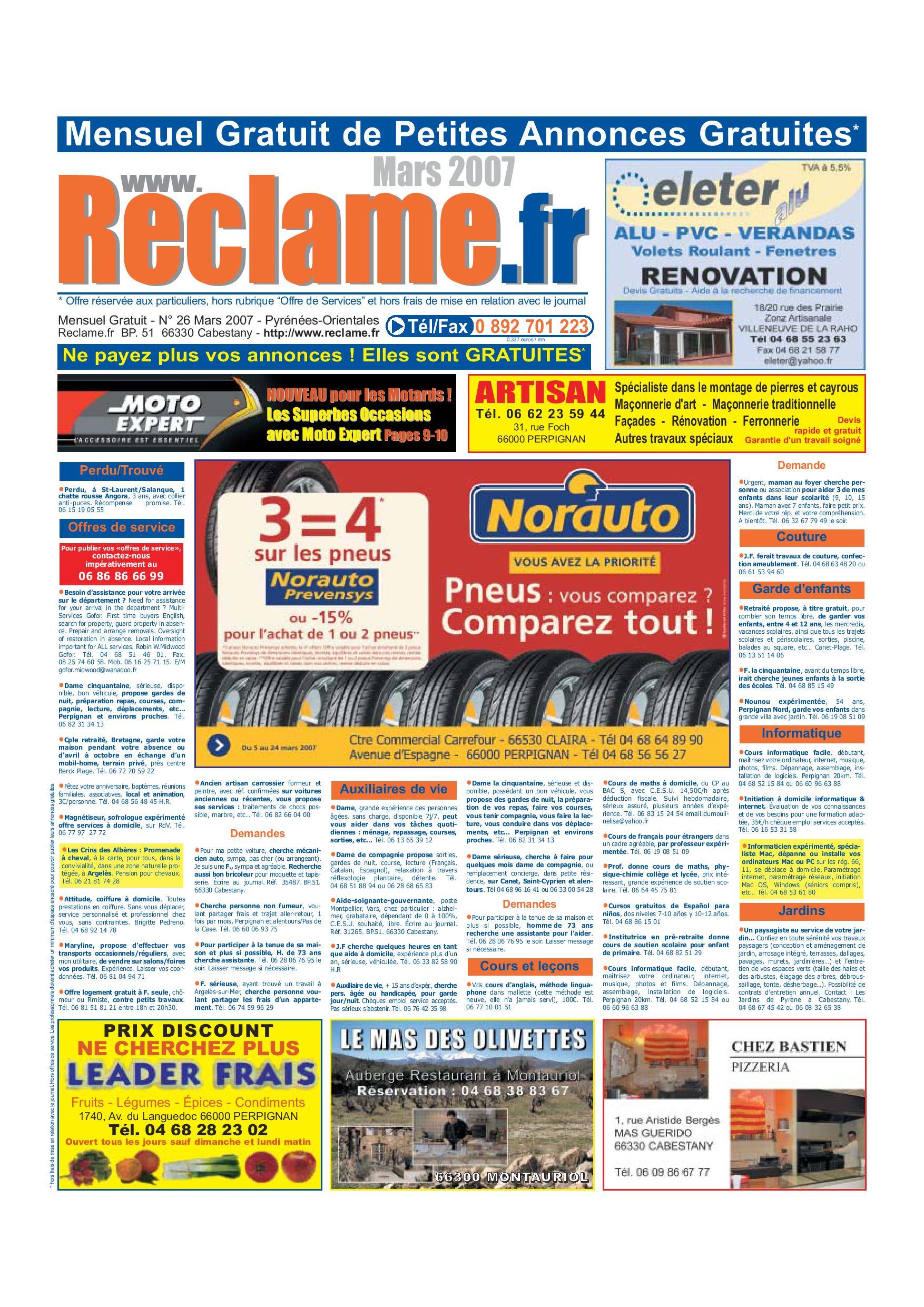 Reclame.fr 26 Mars 2007 By J2M - Issuu tout Abri De Jardin Arrow 4 98M2