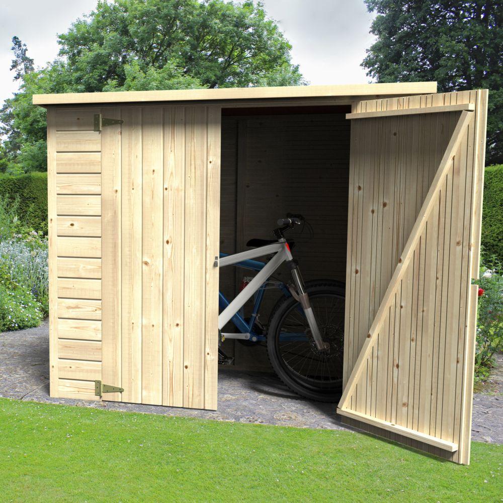Remise De Jardin Bois Bike Box 1.88 M² Ep.12 Mm avec Decor Et Jardin Abri Modules 12 Mm