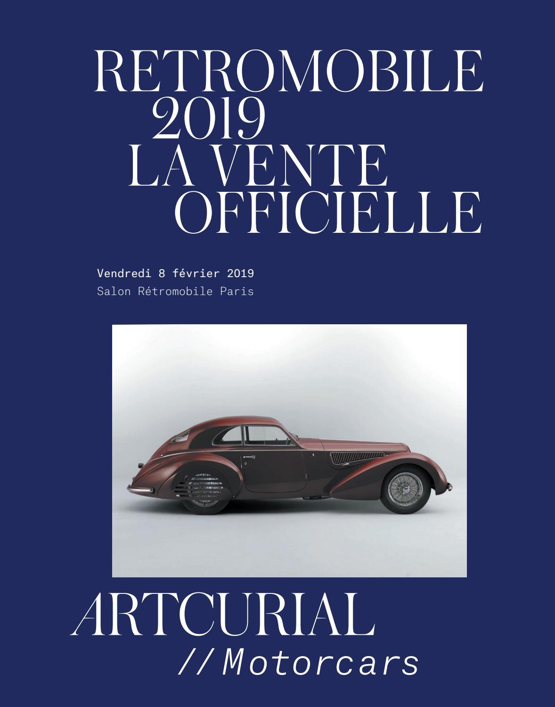 Rétromobile 2019 : La Vente Officielle By Artcurial - Issuu pour Couvercle Larmé Pour Passage De Voiture