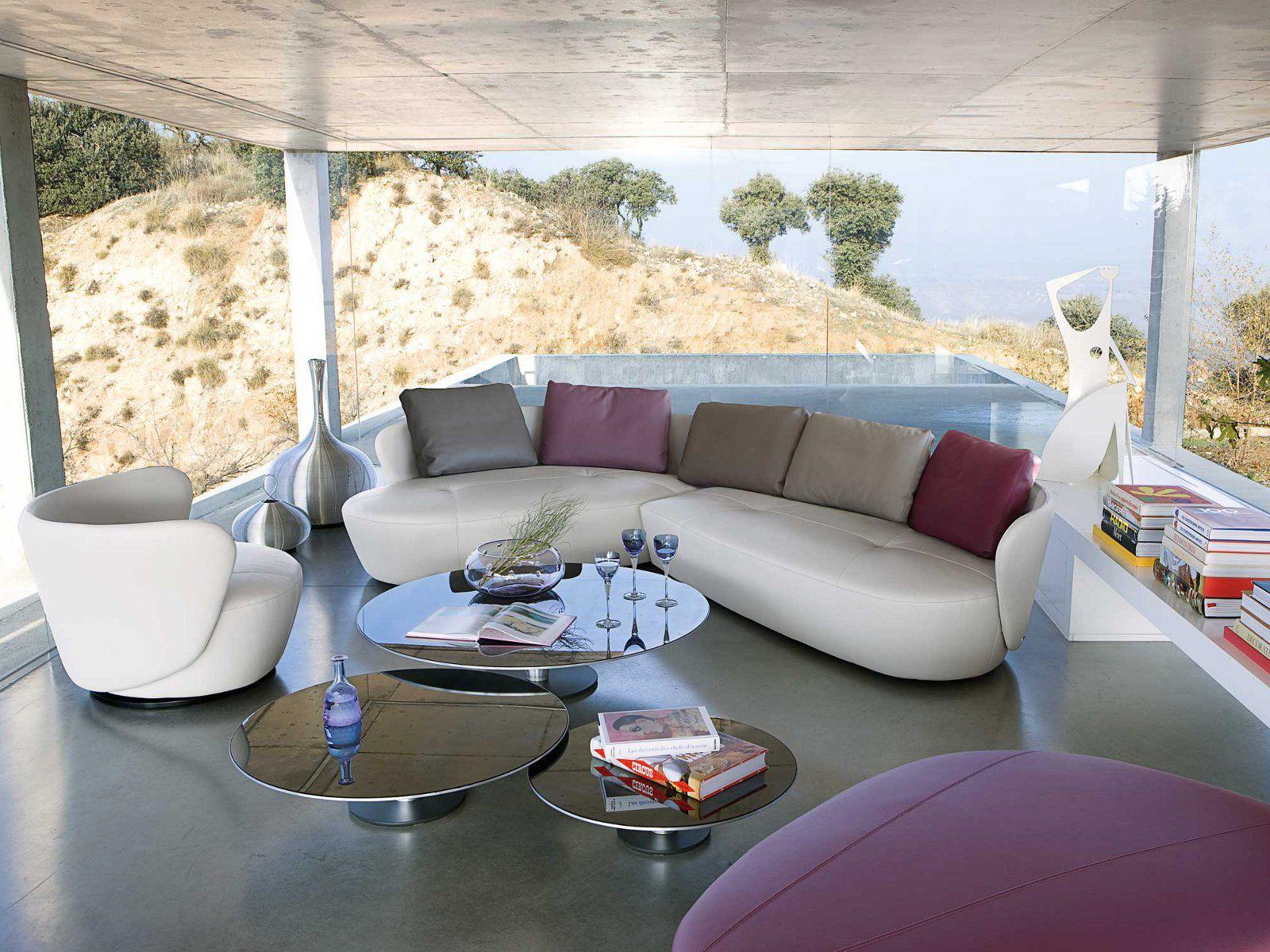 Roche Bobois Ovalis Modular Corner Sofa | Canapé Demi Lune ... concernant Canapé Rond Ou Demi Lune