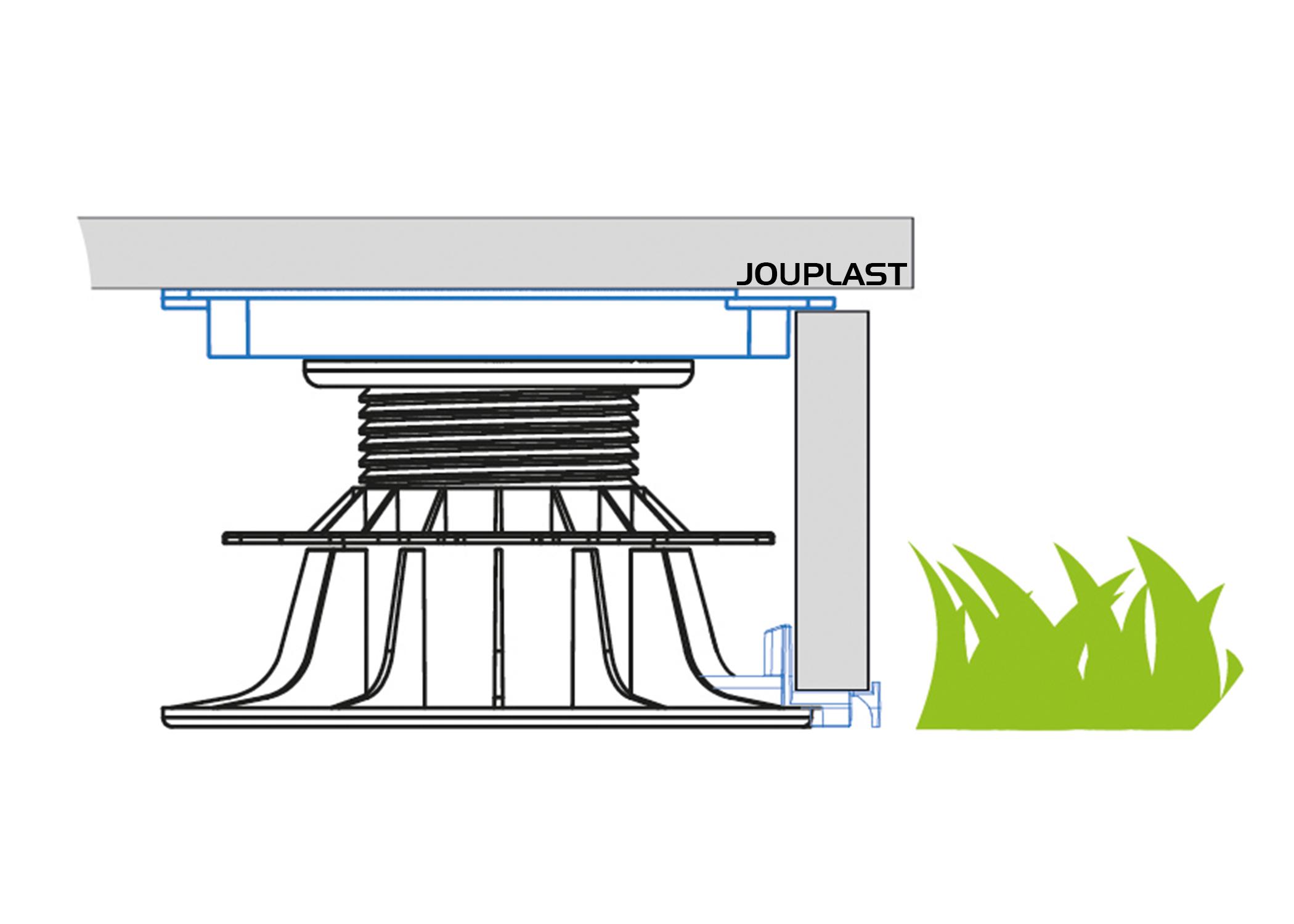 Seitliche Verblendung Einer Terrasse - Jouplast - Solutions ... intérieur Profil Alu Pour Terrasse Sur Plot