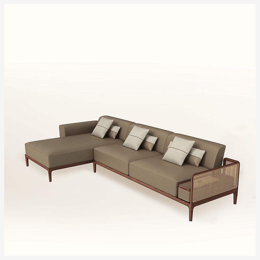 Sofa Sellier 2-Seater With Chaise Lounge destiné Chaise Oceania