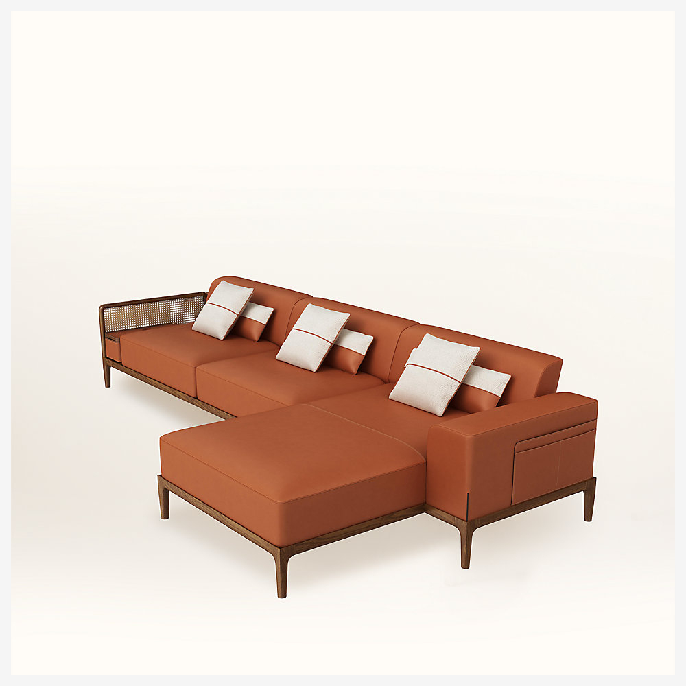 Sofa Sellier 2-Seater With Chaise Lounge serapportantà Chaise Oceania