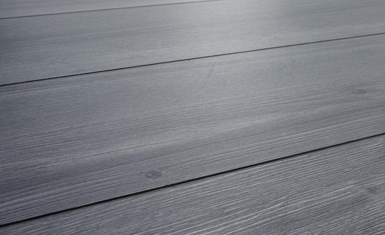 Sol Stratifié Urban Wood, Pin Anthracite, Lame 19,05 X 125,7 ... dedans Parquet Anthracite