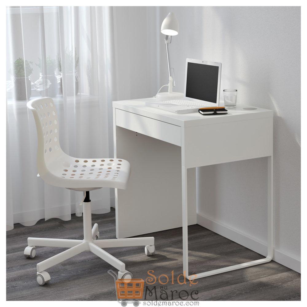 Soldes Ikea Maroc Bureau Micke Blanc 599Dhs Au Lieu De 699Dhs avec Ikea Maroc Bureau