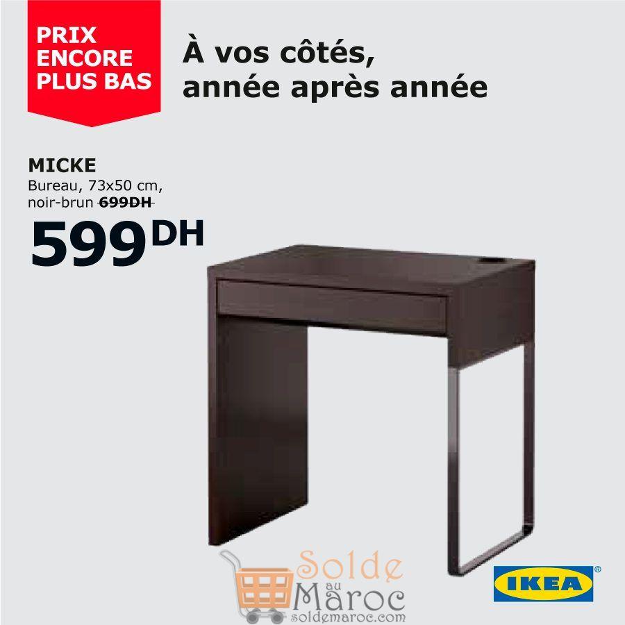 Soldes Ikea Maroc Bureau Micke Noir-Brun 599Dhs Au Lieu De ... serapportantà Ikea Maroc Bureau