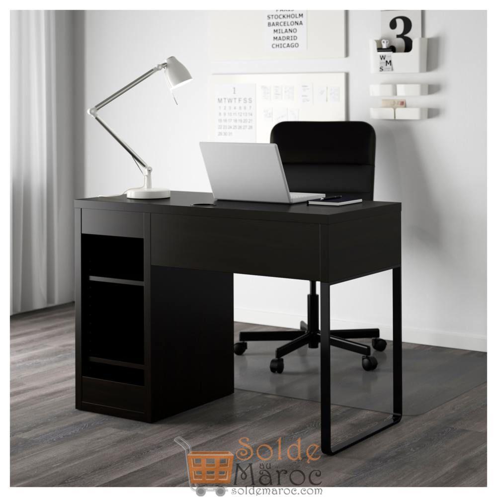 Soldes Ikea Maroc Bureau Micke Noir-Brun 999Dhs Au Lieu De ... pour Ikea Maroc Bureau