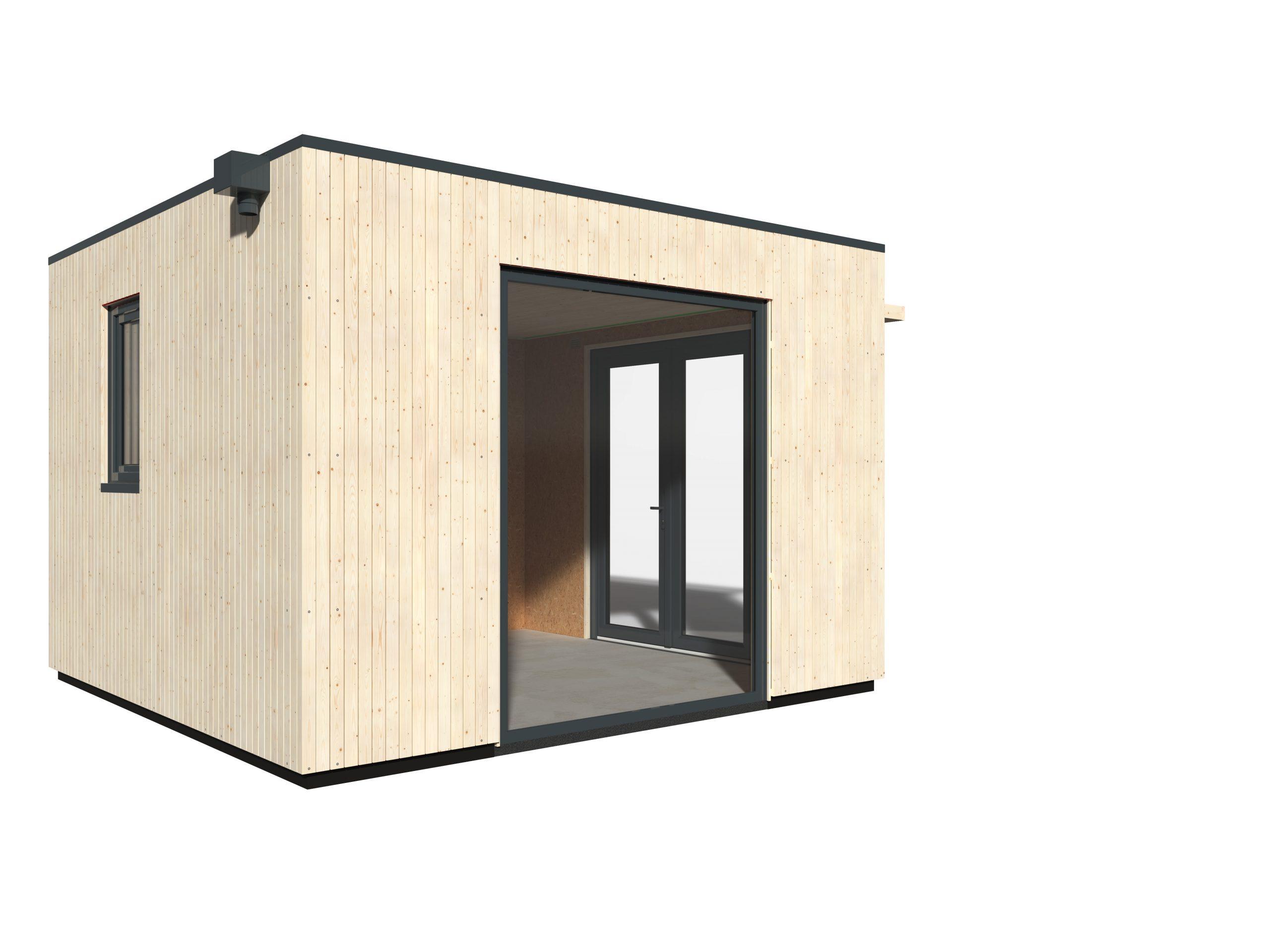 Studio De Jardin Bois Decor Et Jardin Como Ep.97 Mm, 11.16 M² concernant Bâche Epdm Leroy Merlin