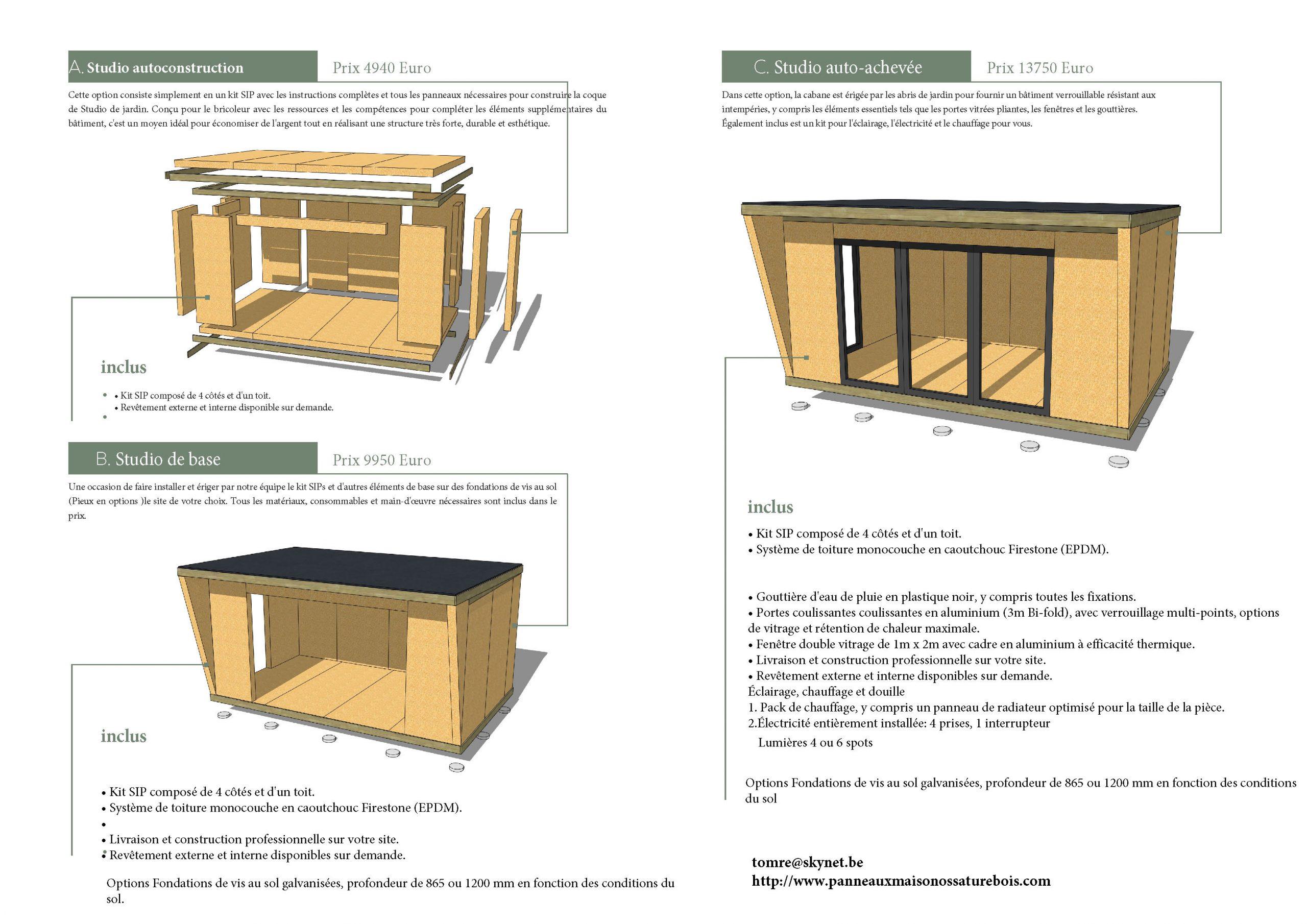 Studio | Panneaux Maison Ossature Bois dedans Corpor Abri De Jardin En Kit